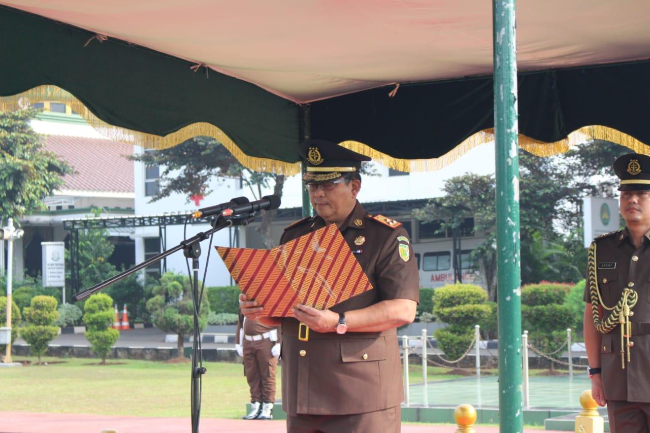 Pimpin Upacara Peringatan Hari Lahir Pancasila, Wakil Jaksa Agung Dr Arminsyah Tekankan Korps Adhiyaksa Mesti Bahagia Berpancasila.