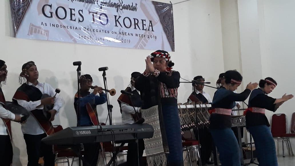 Perkenalkan Budaya Indonesia Ke Level Dunia, Komunitas Gondang Saurdot HKBP Jatiwaringin Dikirim ke Asean Week 2019 di Korea Selatan.