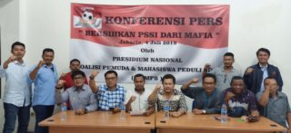 Sebanyak 27 Organisasi Kepemudaan Minta Presiden Bersihkan Mafia Bola Dari Tubuh PSSI.