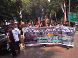 Sudah 74 Tahun Indonesia Merdeka, KDT Belum Merdeka, Masyarakat Batak Geruduk Kantor KLHK Minta PT Toba Pulp Lestari dan Antek-Anteknya Dihentikan.
