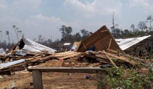 Awalnya Dituduh Membakar Hutan, Kini Ditersangkakan Atas Dugaan Penyerobotan Lahan, Satu Kampung Orang Batak Diberangus, Puluhan Petani Ditahan di Polres Batanghari, Jambi.