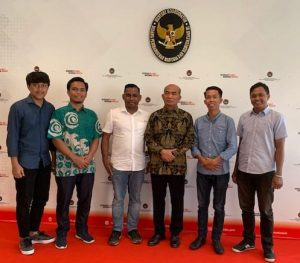 Pengurus Pusat Gerakan Mahasiswa Kristen Indonesia (PP GMKI) bertemu Menko PMK Muhajir Effendy, di Kantor Menko PMK, Jalan Medan Merdeka Barat, Nomor 3, Gambir, Jakarta Pusat, Selasa (19/11/2019).