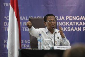 Jaksa Agung Muda Bidang Pengawasan Kejaksaan Agung (Jamwas) M Yusni memperkenalkan sebuah sistem pengawasan jaksa berbasis pemanfaatan Informasi Teknologi (IT) pada Rapat Koordinasi Komisi Kejaksaan dengan Kejaksaan Agung, di Hotel Veranda, Kebayoran Lama, Jakarta Selatan, Kamis (12/12/2019).