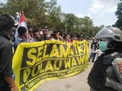 Tuntut Pencabutan Ijin Tambang di Pulau Kowane, Mahasiswa dan Masyarakat Desak Hentikan Kriminalisasi Warga Wawonii.