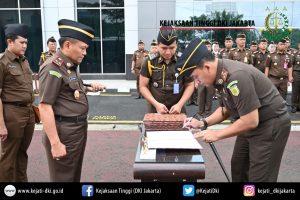 Jajaran Kejaksaan Tinggi DKI Jakarta Gelar Apel Gabungan Dan Penandatanganan Perjanjian Kinerja Tahun 2020.