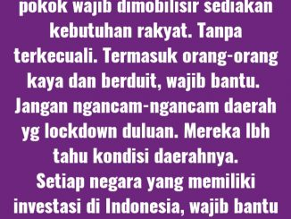 Penyebaran Wabah Covid-19 Kian Mengkhawatirkan, Polisi Jangan Lebay, Posko Corona Crisis Centre Usul Segeralah Lakukan Lockdown!
