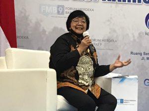 Karhutla Masih Merebak, Indonesia Sedang Kritis, Menteri KLHK Siti Nurbaya: Sekitar 2,6 Juta Hektar Lahan Rawan Terbakar. – Foto: Menteri Lingkungan Hidup dan Kehutanan (LHK) Siti Nurbaya.