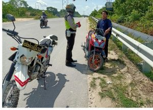 Tiga Hari Gelar Operasi Patuh Lancang Kuning, 30 Kendaraan Ditertibkan Polres Rokan Hilir.