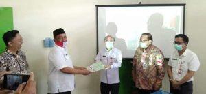 Sekda dan Kepala BPKAD Nias Barat Hadiri Rakor Pencegahan Korupsi Terintegrasi Se-Sumatera Utara (Sumut), Jumat (28/09/2020).(Ist)