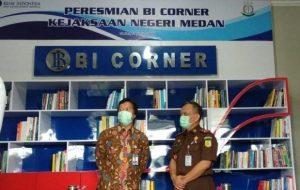 Pertama Kali Ada di Kejaksaan, Bank Indonesia Resmikan BI Corner Ke-40 di Sumut. – Foto: Peresmian BI Corner ke-40 Wilayah Sumatera Utara di Kejaksaan Negeri Kota Medan (Kejari Kota Medan), Rabu (05/08/2020). (Net)