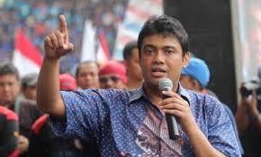 Tolak Omnibus Law, Buruh Sepakat Gelar Mogok Nasional. – Foto: Presiden Konfederasi Serikat Pekerja Indonesia (KSPI) Said Iqbal. (Net)