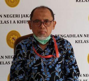 Pengadilan Juga Diserang Covid-19 Yang Ganas, PN Jakpus Pilih Efektifkan Sidang Virtual. – Foto: Kepala Humas Pengadilan Negeri (PN) Jakarta Pusat, Muslim.(Ist)