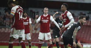 Prediksi Liga Inggris, Burnley Vs Arsenal, Demi Lolos Empat Besar, Meriam London Harus Membunuh Dan Raih Tiga Poin. - Foto: Arsenal Vs Burnley. (Pool PA Via AP Photo)