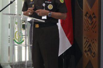 Canangkan Zona Integritas WBBM, Jamintel Minta Puspenkum Jadi Role Model Pelanyanan CAKAP. - Foto: Jaksa Agung Muda Bidang Intelijen Kejaksaan Agung (Jamintel) Dr Sunarta saat memberikan arahan pada Apel atau Upacara Pencanangan Pembangunan Zona Integritas Menuju Wilayah Birokrasi Bersih Melayani (WBBM) pada Pusat Penerangan Hukum, di Press Room Pusat Penerangan Hukum Kejaksaan Agung, Kebayoran Baru, Jakarta Selatan, Senin (19/04/2021).(Ist)