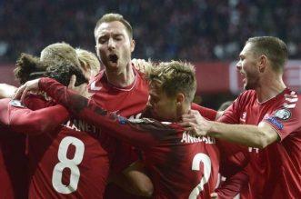 Prediksi Laga Piala Euro 2020/2021, Denmark vs Finlandia 12 Juni 2021, Di Atas Kertas, Tim Dinamit Unggul dari Huuhkajat. - Foto: Timnas Denmark, The Dinamit.(Foto: Liselotte Sabroe/Ritzau Scanpix via AP)