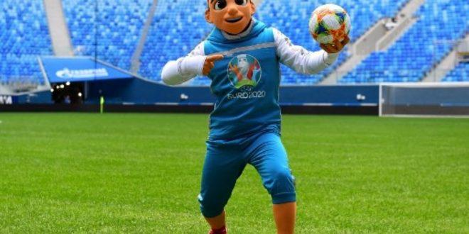 Jago Freestyle, Ini Dia Skillzy, Maskot Piala Eropa 2020. Maskot Piala Eropa 2020 Skillzy. Foto: AFP/Olga Maltseva