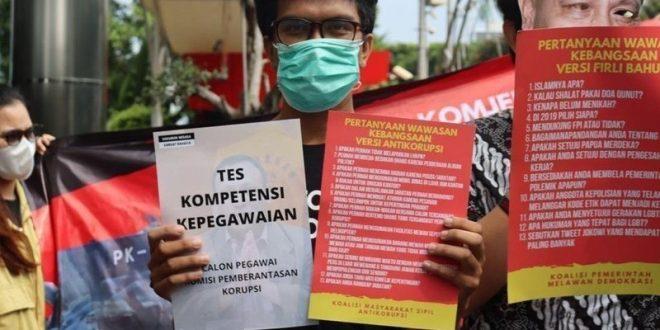 Jangan Bunuh KPK, Batalkan Pemberhentian 75 Pegawai KPK! - Foto: Alumni Sekolah Anti Korupsi (SAKTI).(Ist)