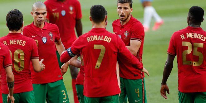 Laga Uji Coba Terakhir Jelang Piala Eropa 2020, Portugal Vs Israel, Skor 4-0. Selebrasi Cristiano Ronaldo-Kapten Timnas Portugal-Foto-AP Photo