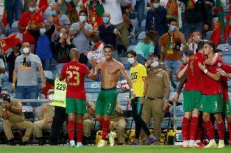 Buntut Selebrasi Kemenangan Kontroversial dengan Buka Baju, CR7 Diskors dari Kualifikasi Piala Dunia 2022. - Foto: Cristiano Ronaldo.(AP Photo)