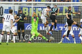 Liga Italia, Inter Milan Vs Bologna, Skor 6-1, Nerrazzuri Pesta Gol, I Rossoblu Cetak Gol Hiburan. - Foto: Pertandingan Inter Milan Vs Bologna di pekan ke-4 Serie A 2021-2022.(AP Photo)